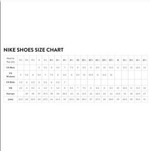 nike air force size guide